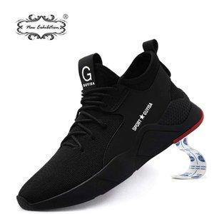 Yeni sergi Moda markası Erkekler Açık Çelik Burun Cap İş Güvenliği Askeri Nefes Hafif Sneaker artı boyutu 36-48 201019 Ayakkabı