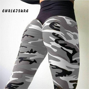 Leggings de chrillé pour femmes occasionnelles Sexy Camouflage Impression High Taille Leggings Polyester Slim Great Taille Exercice