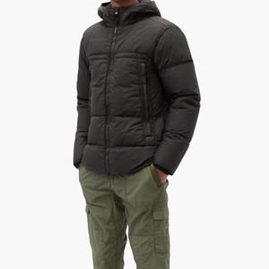 Brasão 19FW Jacket Parka com capuz Homens Winter casaco corta-vento parkas para baixo Grosso Jackets Mens Jackets Asiático Tamanho Mens Clothing