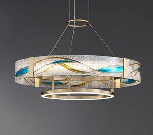 Moderna sala da pranzo camera da letto studio creativo smalto lampadari in rame lampade soggiorno in rame