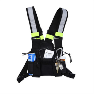 Fashion Chest Rig Bag Camouflage Tactical Vest Harness Front Pack Pouch Holster Vest Rig Hip Hop Streetwear Functional Chest Bag
