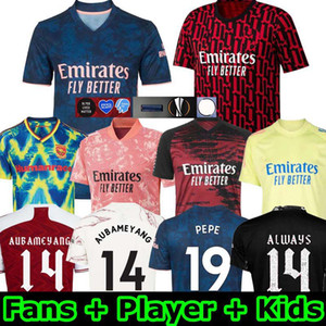 الرجال + أطفال 20 21 Arsen HumeRace Pepe Saka Tierney Henry 2020 Soccer Jersey Willian Mailes-Niles Pre-Match Training قمصان كرة القدم