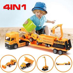 Camion Coolplay 4in1 lega Ingegneria auto trattore Dump giocattolo di modello classico veicolo mini per i ragazzi Omaggio