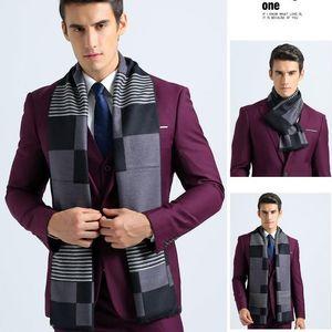 Scarves Brand Men Scarf Classic Design Winter For Foulard Lattice Plaid Warm Shawls Luxury Elegance Cachecol