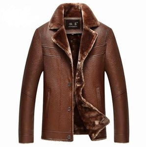Brown mens leather jacket motorcycle Single-breasted coat men jackets suit collar clothes jaqueta de couro fashion autumn winter