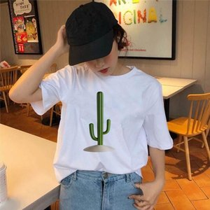 Woman summer Cactus Print T shirt Womens T shirt Fashion Female Tee Top Graphic Female T shirts Clothing Camisas Mujer