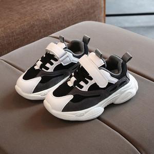 Nuevos muchachos zapatilla de deporte de mujer Ropa para niños zapatilla de deporte de primavera otoño padre calzado transpirable suave niño de los niños zapatos del bebé clavos de carrera sXAn #