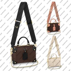 M45571 M45393 مصغرة desinger حقيبة يد العجل جلد النساء حقيبة تنقش قماش برشام ركن crossbody مساء حقيبة محفظة
