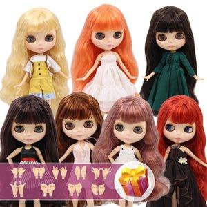 NCY Blyth Doll Nude 1/6 Совместный корпус 30 см BJD игрушки натуральное блестящее лицо с дополнительными руками AB DIY моды куклы девушка подарок LJ200827
