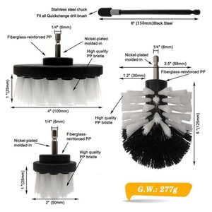 4pcs set Drill Power Scrub Clean Brush Electric Drill Brush Kit With Extension For Cleaning Car, Seat, Carpet, Upholstery Q jllmIJ