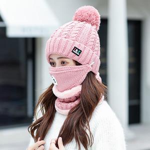 Moda Womans 2PCS / SET Eşarp Pamuk Bandana Hicap Cap Kış Isıtıcı Eşarp Kadın Paşminalar Şal sarar Eşarplar