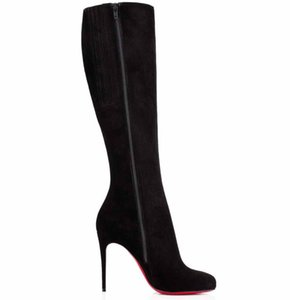 Luxo Inverno Brands Mulheres Red inferior Botas Bianca Botta altas botas de salto Red Sole Alto Lady Sapatinho Wedding Party EU35-43, com caixa