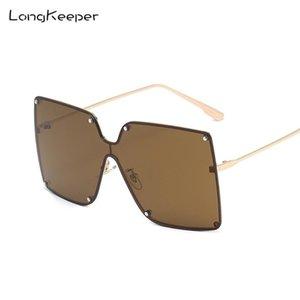 Ladies Gafas de sol Sun Mujeres de gran tamaño Femeninas de gran tamaño Casilla de gafas marrones para 2020 UV400 Gafas Big Shades IEEWT