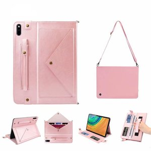 For Huawei MatePad 10.4 inch BAH3-W09 BAH3-AL00 Case Cover Wallet Card Multifunction Bags Funda Tablet Stand Shell & Neck Strap