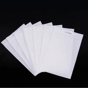 5000pcs / lot klar weiße Plastik Zipper Kleinpaketbeutel für Datenkabel Kfz-Ladegerät Handy-Zubehör Verpackungsbeutel Europa-großes Loch