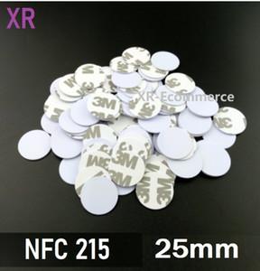 Tag di moneta NFC215 con Adesivo adhsive 3M Universale NFC Sticker Forum Type2 NFC Tags 540Byte Leggi scrivere NFC 215 Chip Card per il controllo degli accessi