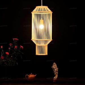 25x65cm lungo bambù Wicker Rattan Lanterna Pendant Light Fixture Nordic asiatico cinese Hanging Lampada da soffitto per la sala da tè Possibilità