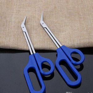 20cm Long Reach Easy Grip Toe Nail Toenail Scissor Trimmer for disabled Cutter Clipper Pedicure Trim tool