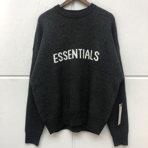 High Street Top Quality ESSENTIALS Knitted Sweater Men Women 1:1 Autumn Winter Casual Oversize Jumper FOG Pullovers 1114