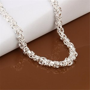 Wholesale High Quality Men Women Wedding Party Silver Color Fine Charm To Chain Necklace Fashion Jewelry N060 H sqctsw