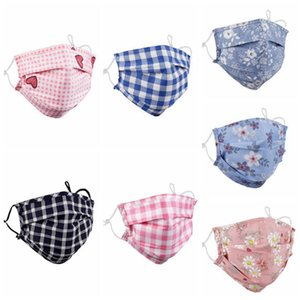 Mouth-muffle Face Mask CYZ2897 Floral Reusable Print Warm Masks Dust Anti Ski Washable Plaid Masks Windproof Jfnla
