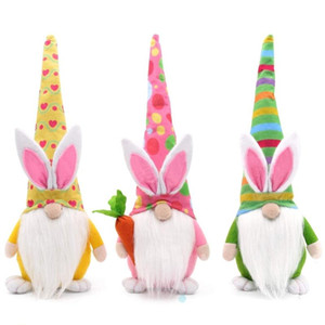 Easter Bunny Gnome Decoration Easter Faceless Doll Easter Plush Dwarf Home Party Decorations Kids Toys DHL Free Shipping