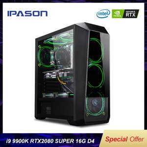 Placa gráfica IPASON Powerful Gaming Computer Intel 9 Gen Núcleo I9 9900K RTX2080 Super 8G de Alto Desempenho Gaming PC Desktop
