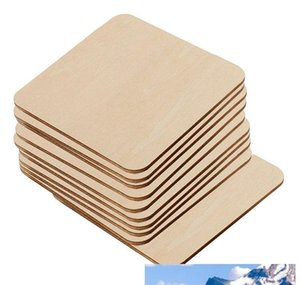 Square Rectangle Unfinished Wood Cutout Circles Blank Wooden Slices Pieces For Diy Painting Art Craft Project bbyXVD packing2010