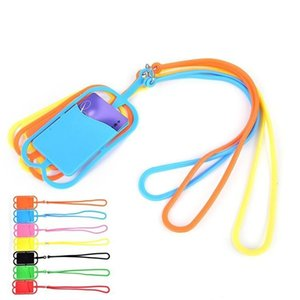 Universal Lanyard Neck Strap Cell Phone Case with ID Credit Card Holder Phone Case Cover Sling Card Slot for Smartphones