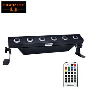TIPTOP 6x18W bateria sem fio LED Wall Washer Luz 50cm de comprimento Bar IRC controle remoto sem fio 2.4G 12500MAH Bateria recarregável