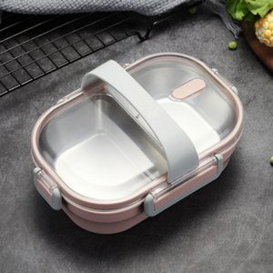 NEW Portable Lunch Box For Kids School 304 Stainless Steel Box Kitchen Leak-proof Food Container Food Box