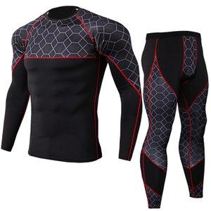 pantalons de sport sous-vêtements de course à pied Gymnase serré compression des vêtements de sport pour hommes chemise / pantalon hommes de sport de jogging combinaison