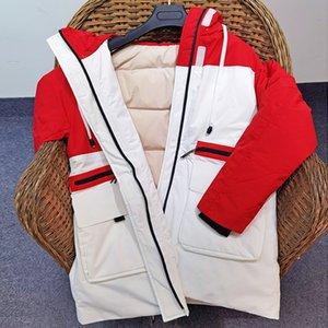 Women's jacket winter down jacket Mid-length white duck down top Slim coat coat Warm coat Women's autumn jacket 201020