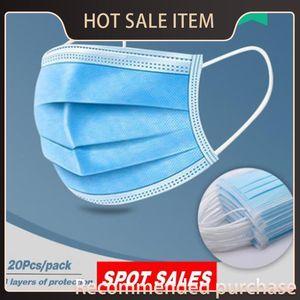 Maschere 500pcs Inquinamento Livelli Prevenire 3 a gettare elastico per adulti orecchini polvere saliva prova traspirante Air Pollution confortevole 500pcs Dpeb