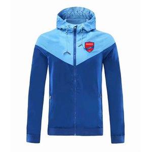 Veste coupe-vent Veste à capuche Panionios football coupe-vent de football de sport complet manteau zippée Vestes d'homme