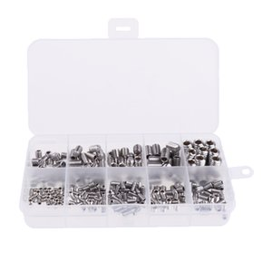 Assorted 300 Pieces Allen Hex Screws Machine Headless Hexagon Socket Bolts