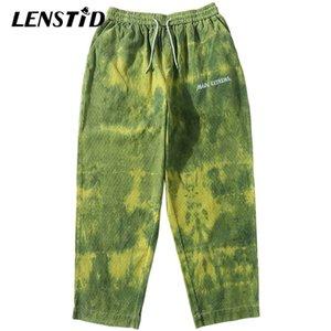 Lenstid HIP Streetwear Streetwear Hommes Harajuku Baggy Pantalon Côtel Vintage Vintage Pantalon Vintage Pantalon Harem Pantalon