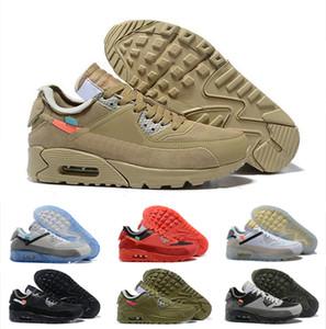 90 Cushion Hommes Chaussures de course 90 Baskets Tout-Terrain Femmes Chaussures de Marche Extérieur Triple Noir Blanc Rouge Vapormax Designer Sneakers