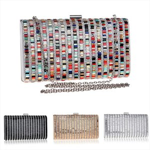 Women Acrylic Diamond Clutch Bag Lady Party Wedding Evening Bags Shoulder Candy Color Handbags