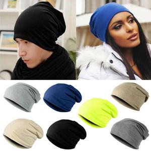 الدافئة للجنسين الرجال النساء حك شتاء للتزلج الكروشيه التهدل قبعة قبعة القبعات كبير جدا عرضي