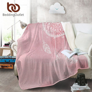 BeddingOutlet Traumfänger Coral Fleece Blanket Aquarell-Flanell-Decke für Betten Rosa, Blau, Lila Bedspreads Warm Sheets jH3y #