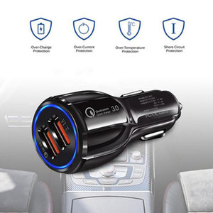 18 W Universal Quick Charge QC 3.0 USB Car Charger Fast Car Charging Dual Usb Ports Phone Charger For Samsung Iphone 12 11 pro