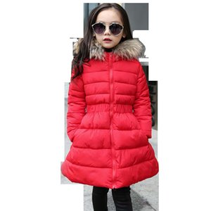Spring Jacket Girl Solid A-Line Coat For Girls Warm Fur Collar Kids Outerwear Girl Autumn Casual Clothes For Girls 6 8 10 12 14 LJ201124