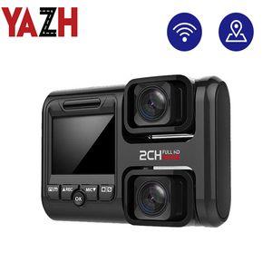 New upgrade 4K 2160P WIFI GPS recorder dual lens car DVR Novatek 96663 chip Sony IMX323 sensor night vision dual camera recorder