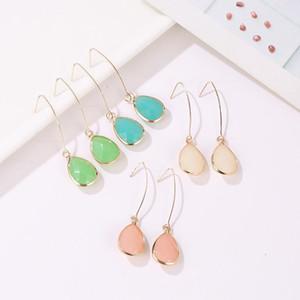 Water Drop серьги для женщин 2019 Простой Jelly цвет моды кристаллы Earings
