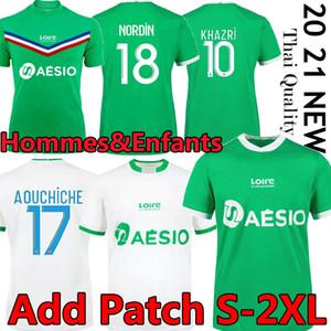 20 21 Maillot As Saints Etienne Soccer Jerseys 2020 2021 Maillot ASSE Etienne Khazri Cabella Beric Nordin Hamouma Camicie di calcio Uniformi
