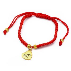 Lucky Bracelet I Love You Mom Red For Mum Mother's Day Gift Family Bless Charm Bracelets