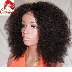 Afro Kinky Lace Wig 16 pulgadas 180% densidad Sin despliegue U parte Pelucas Afro Kinky Rizado En stock Afro rizado brasileño Curly U Parte para la venta