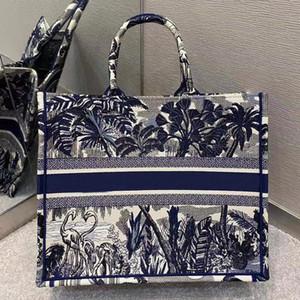 La nuova tote Bag ad alta capacità 7A la qualità personalizzata di fascia alta è realizzata in tela ricamata grigia con vari modelli e colori