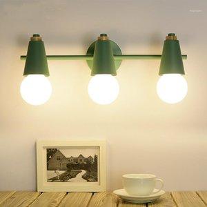 Nordic Minimalist Spiegel Scheinwerfer Farbe Moderne Minimalistische Spiegelkabinett Wandleuchte Lampe Badezimmer LED LB415071